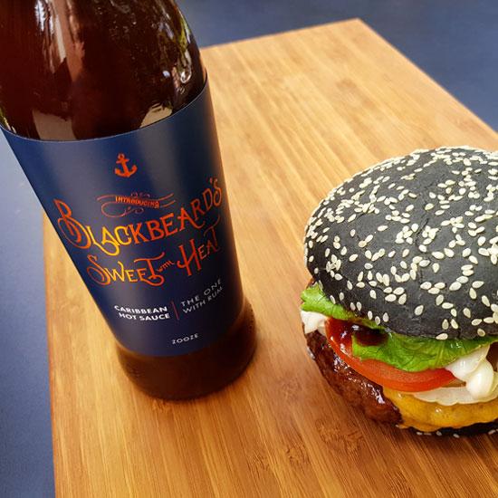 caribbean-hot-rum-sauce-blackbeard-sweet-heat-zooze-burger